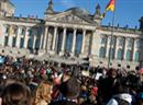 Proteste vor dem Reichstag.