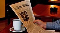 Kaffeetrinken schützt vor Herzinfarkt, Zeitung lesen nicht unbedingt.