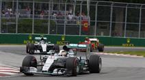Lewis Hamilton in Montreal.