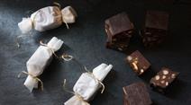 Schokoladen-Mandel-Fudges
