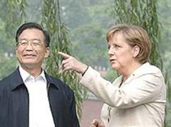 Merkel mit Chinas Ministerpräsident Wen Jiabao.