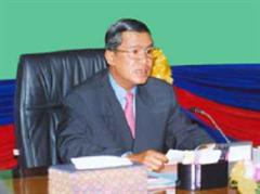 Ministerpräsident Hun Sen ist beliebt im Volk.
