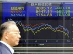 Der Nikkei-Index schloss um 9,62 Prozent tiefer.
