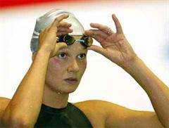 Franziska van Almsick hat die Olympiade in Athen fest im Visier.