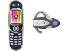 Das Motorola V80 mit Bluetooth Headset.