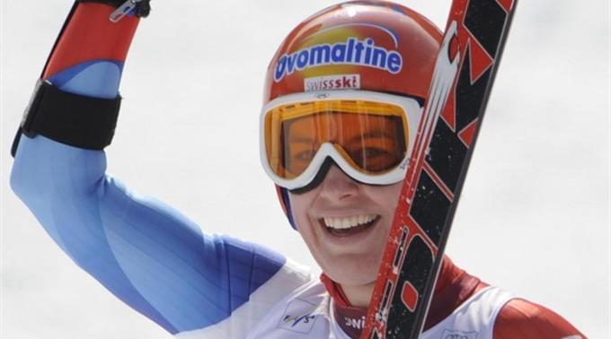 Nadja Styger jubelt in Garmisch.