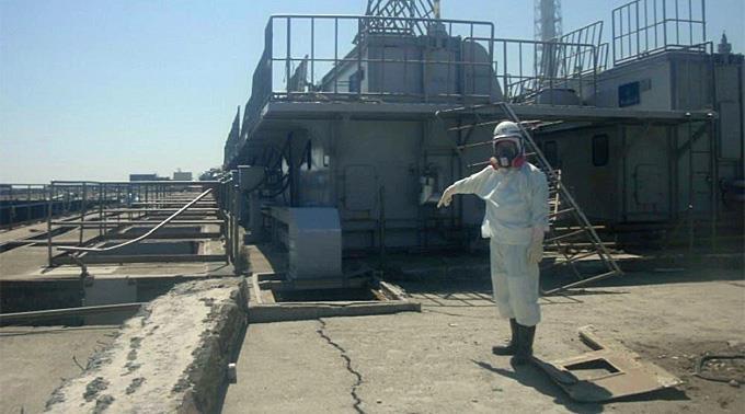 Reparaturarbeiten im AKW Fukushima.