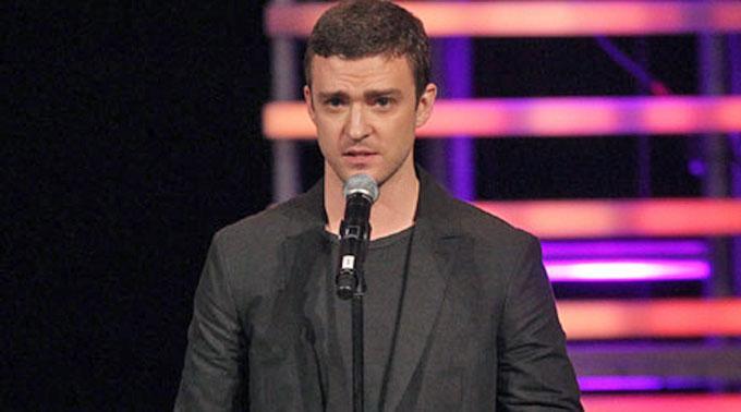 Grüne Ansichten: Justin Timberlake.