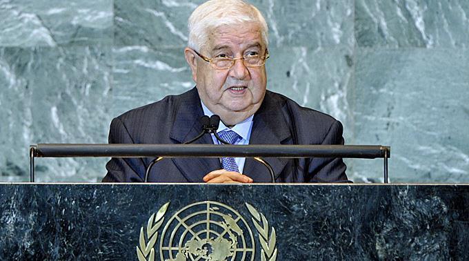 Walid Muallem bestätigt die Teilnahme des Regimes.