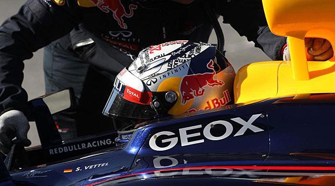Sebastian Vettel in Barcelona.