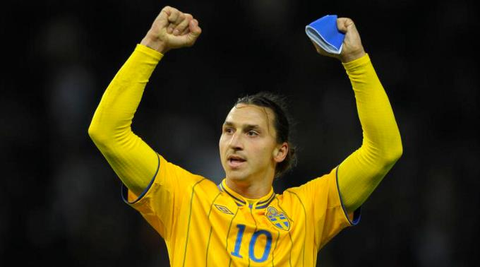 Schwedens Torgarant Zlatan Ibrahimovic.