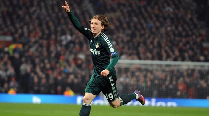 Luka Modric würde gerne für ManU jubeln.