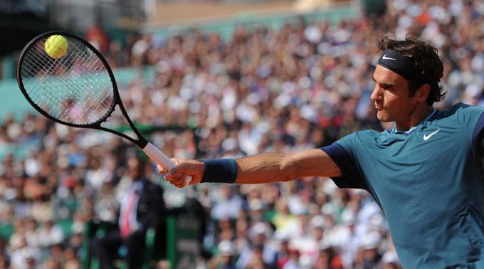 Roger Federer bezwang die Nummer 2 der Weltrangliste in zwei Sätzen.