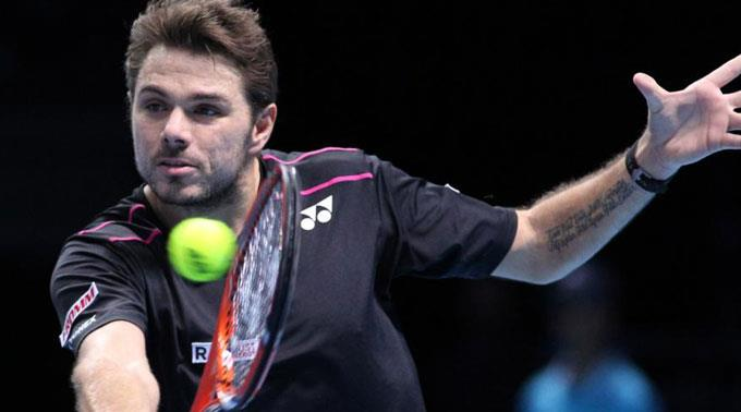 Stan Wawrinka kann frühestens im Final auf Novak Djokovic treffen. (Archivbild)