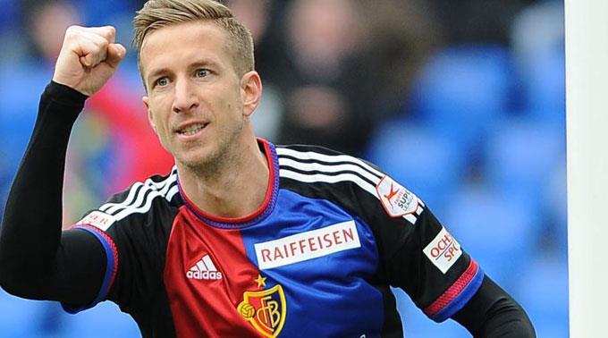 Basels Marc Janko jubelt nach dem 1:0.