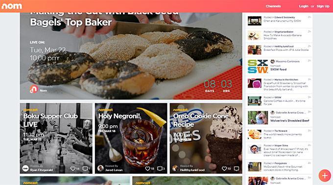 NOM: Live Videos und bewusstes Essen.