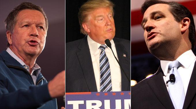 John Kasich stellt sich gegen Trump hinter Ted Cruz.