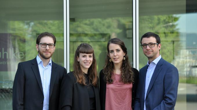 Das Team von PharmaBiome (rechts, Tomas de Wouters)